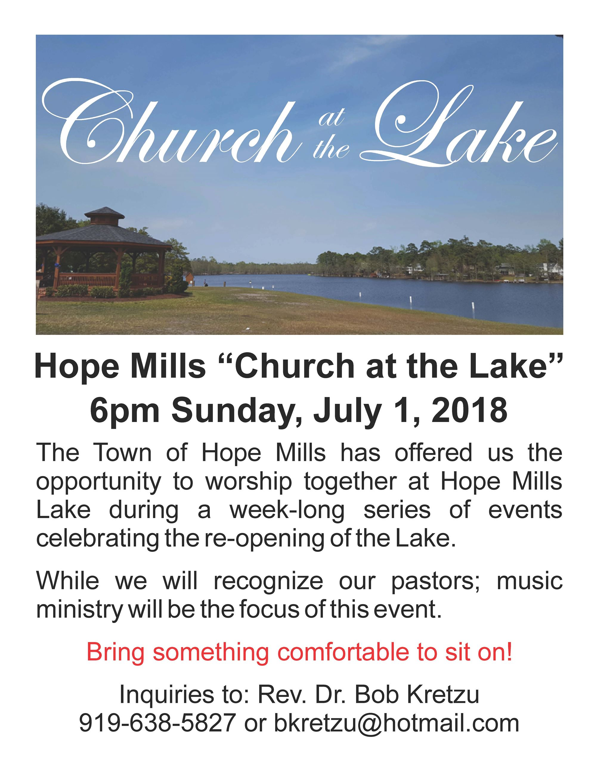 Church at the Lake flyer