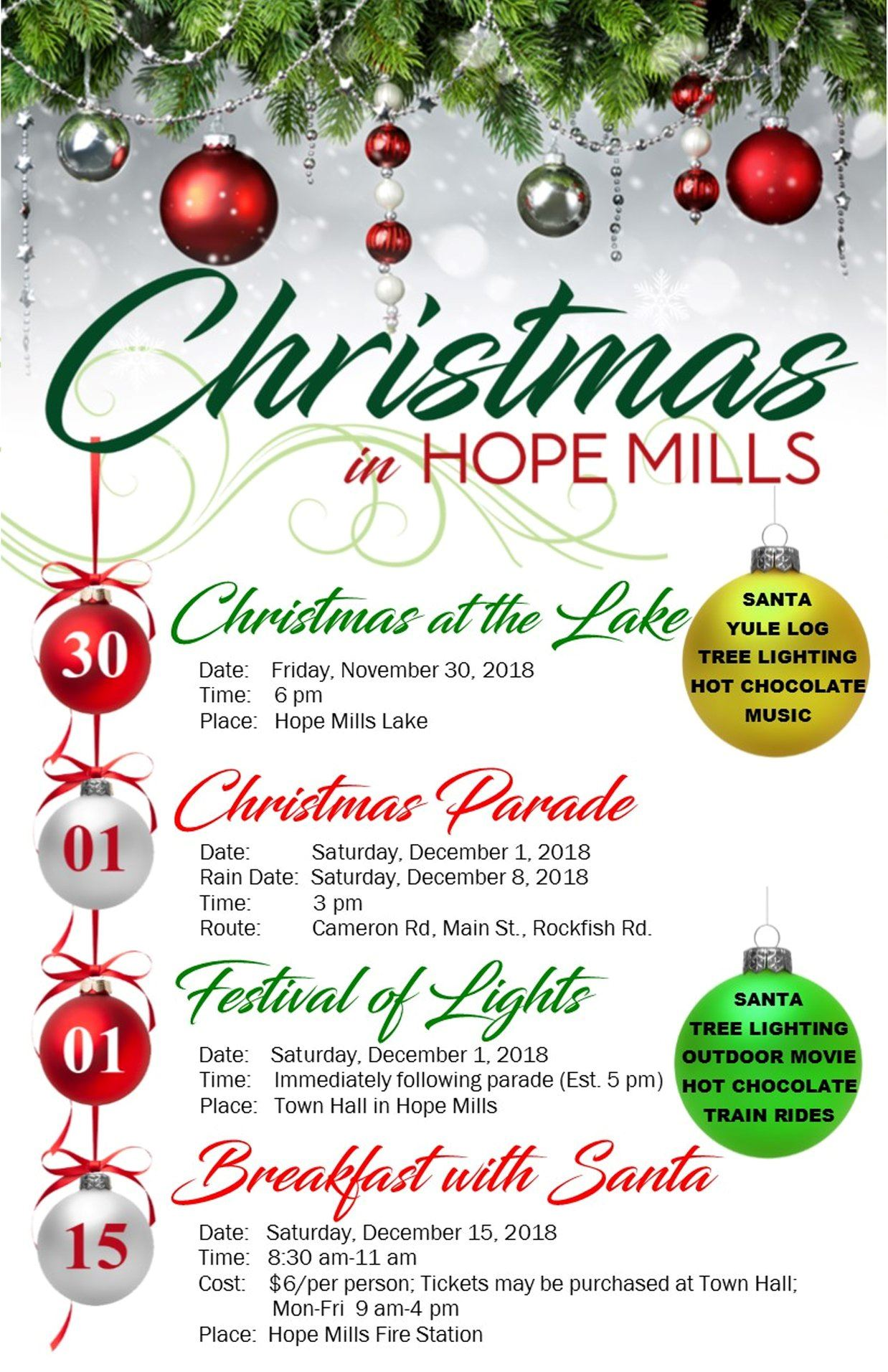 Christmas in Hope Mills Flyer