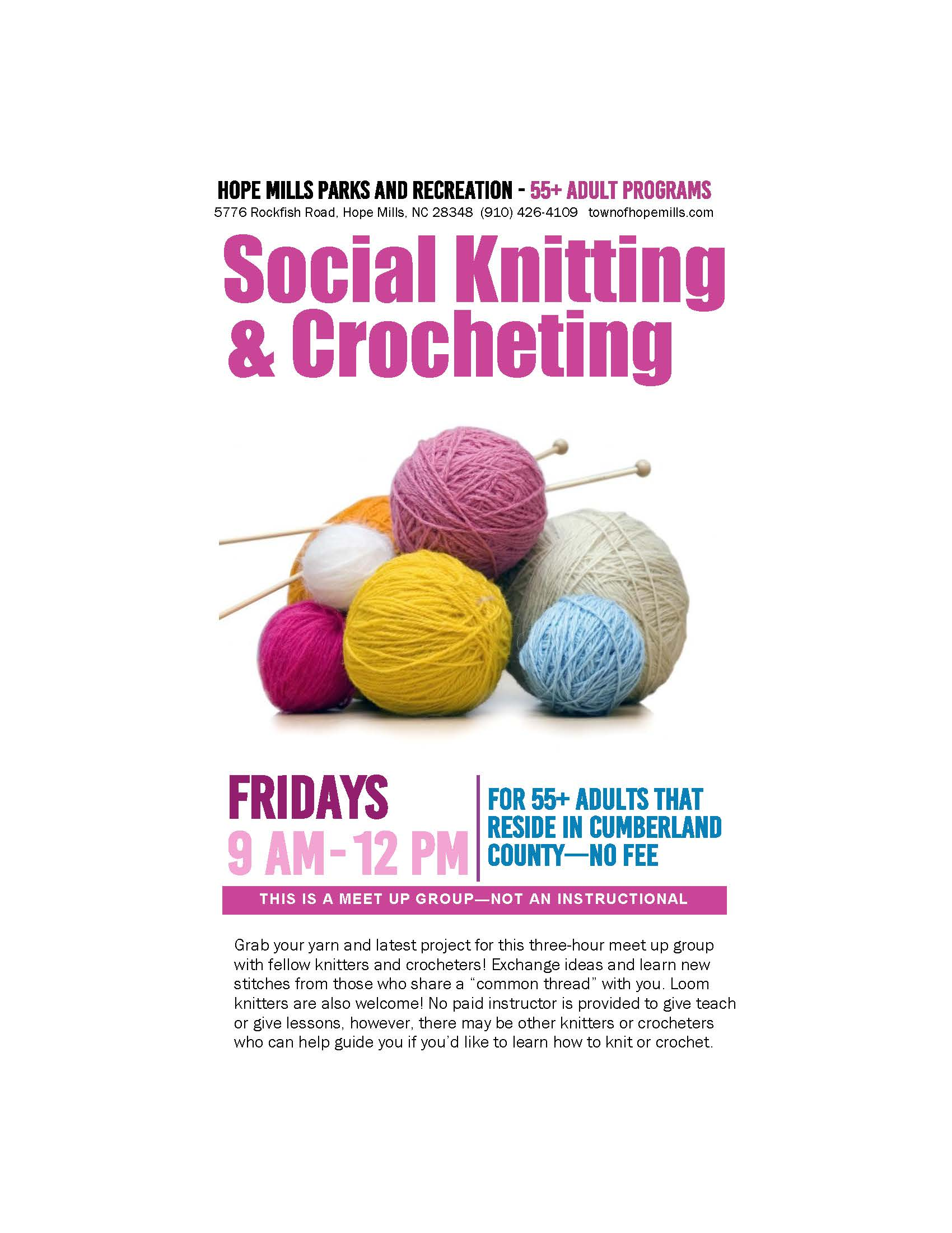March 2019 Flyers_SOCIAL KNITTINGCROCHETING