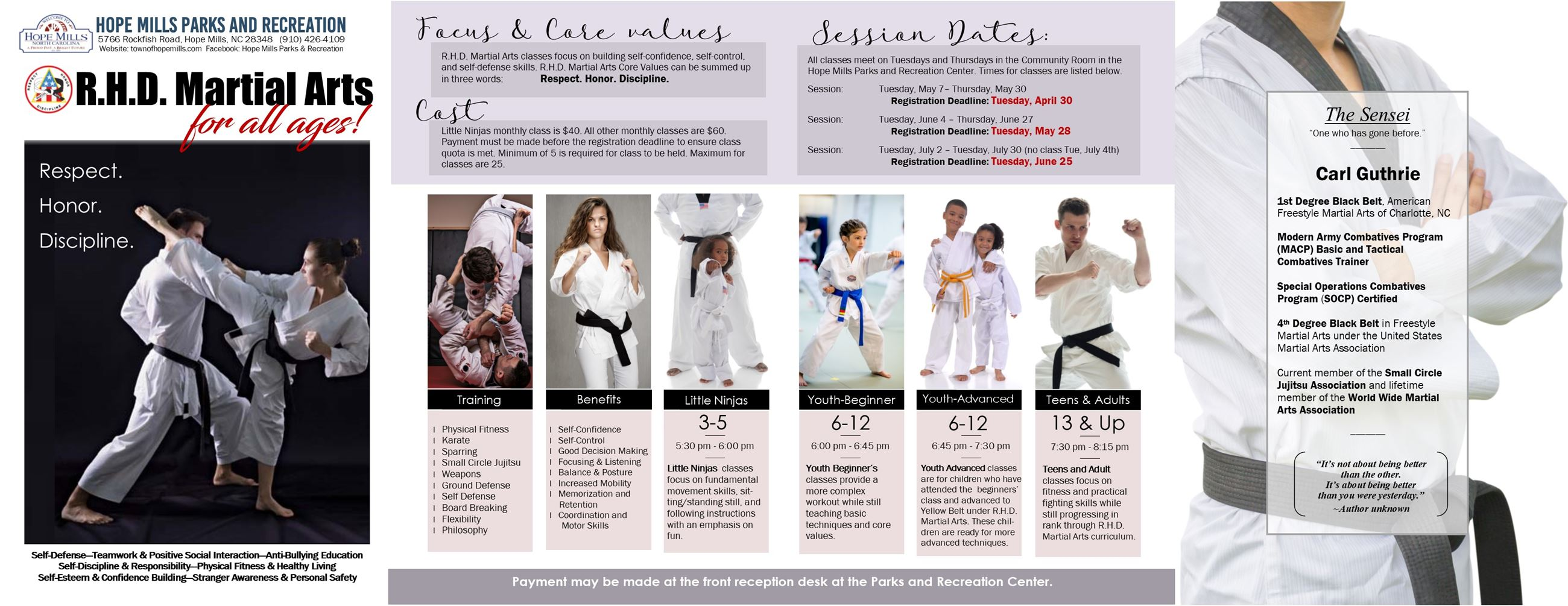 RHD Martial Arts Flyer 22 inch Electronic Layout