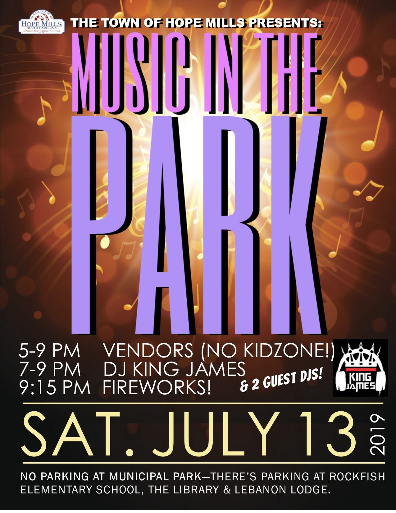 Music in the Park and Fireworks 7-13-19