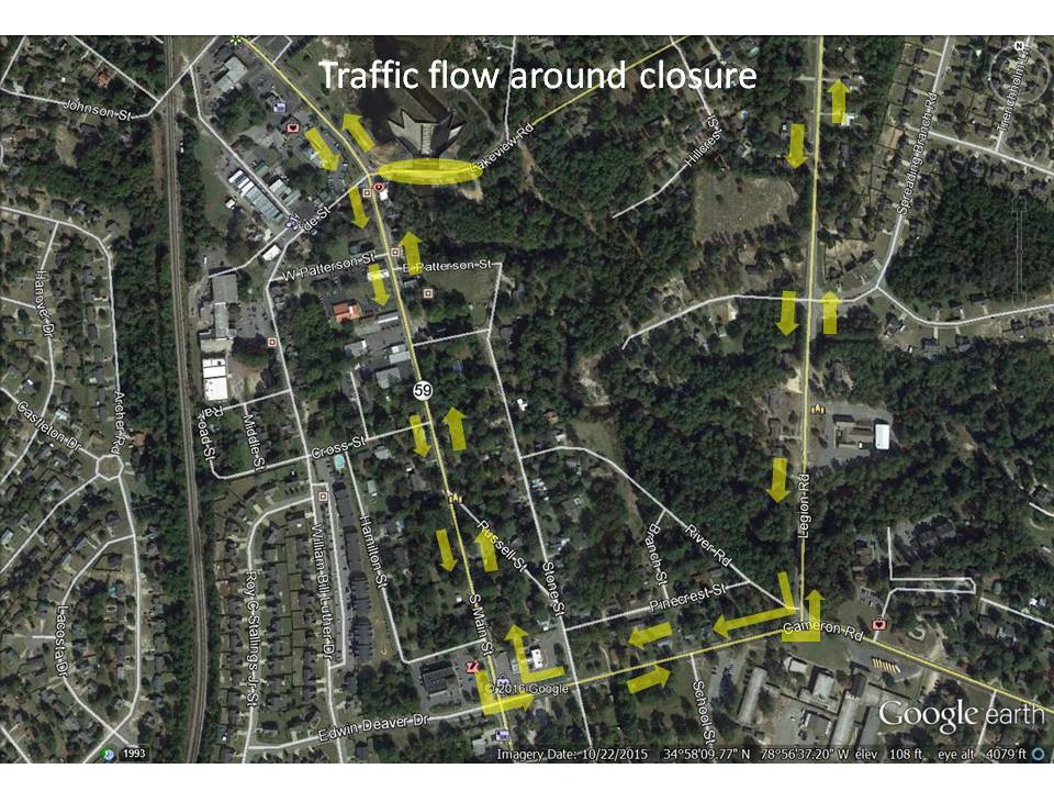 Traffic around Lakeview Dr closure