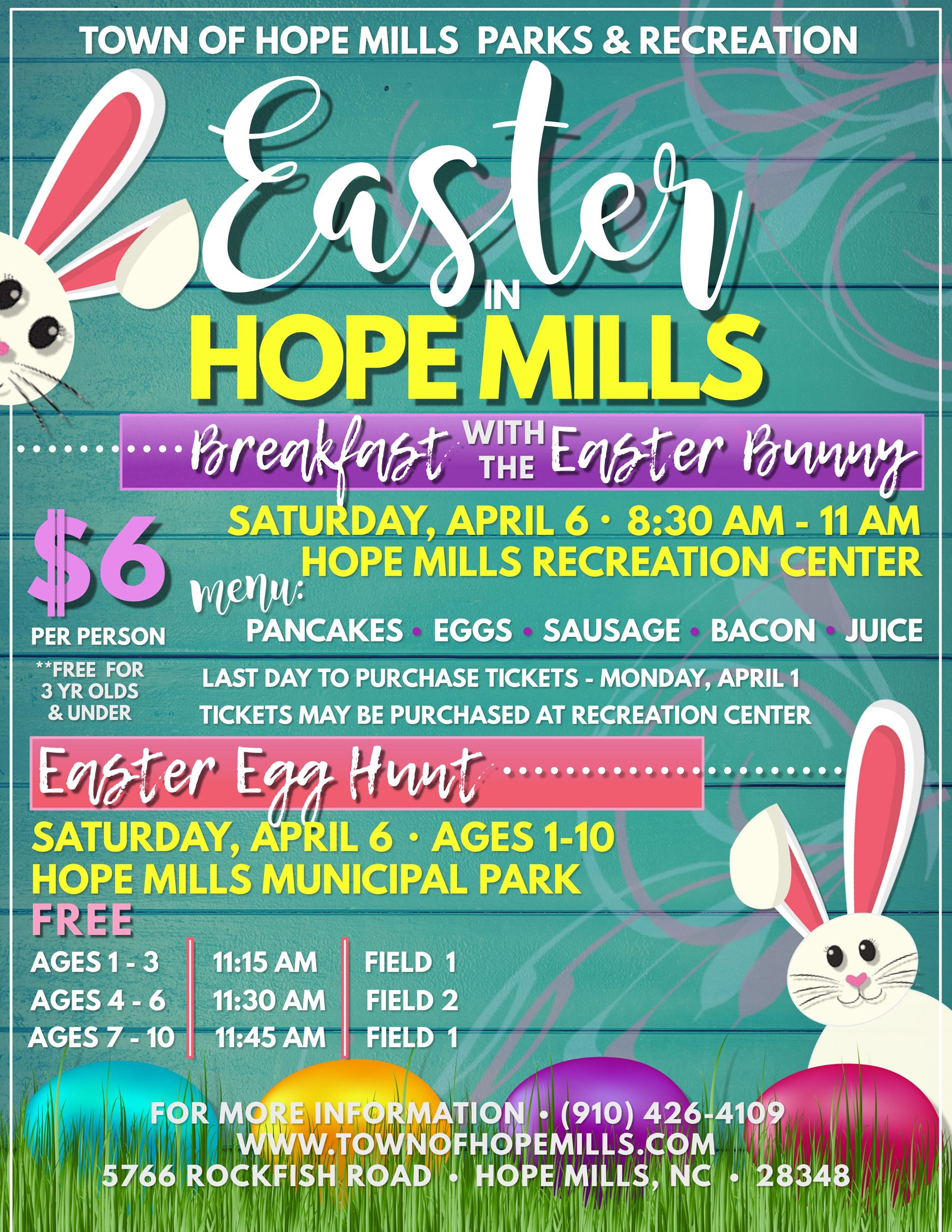 UPDATED Easter in Hope Mills Flyer