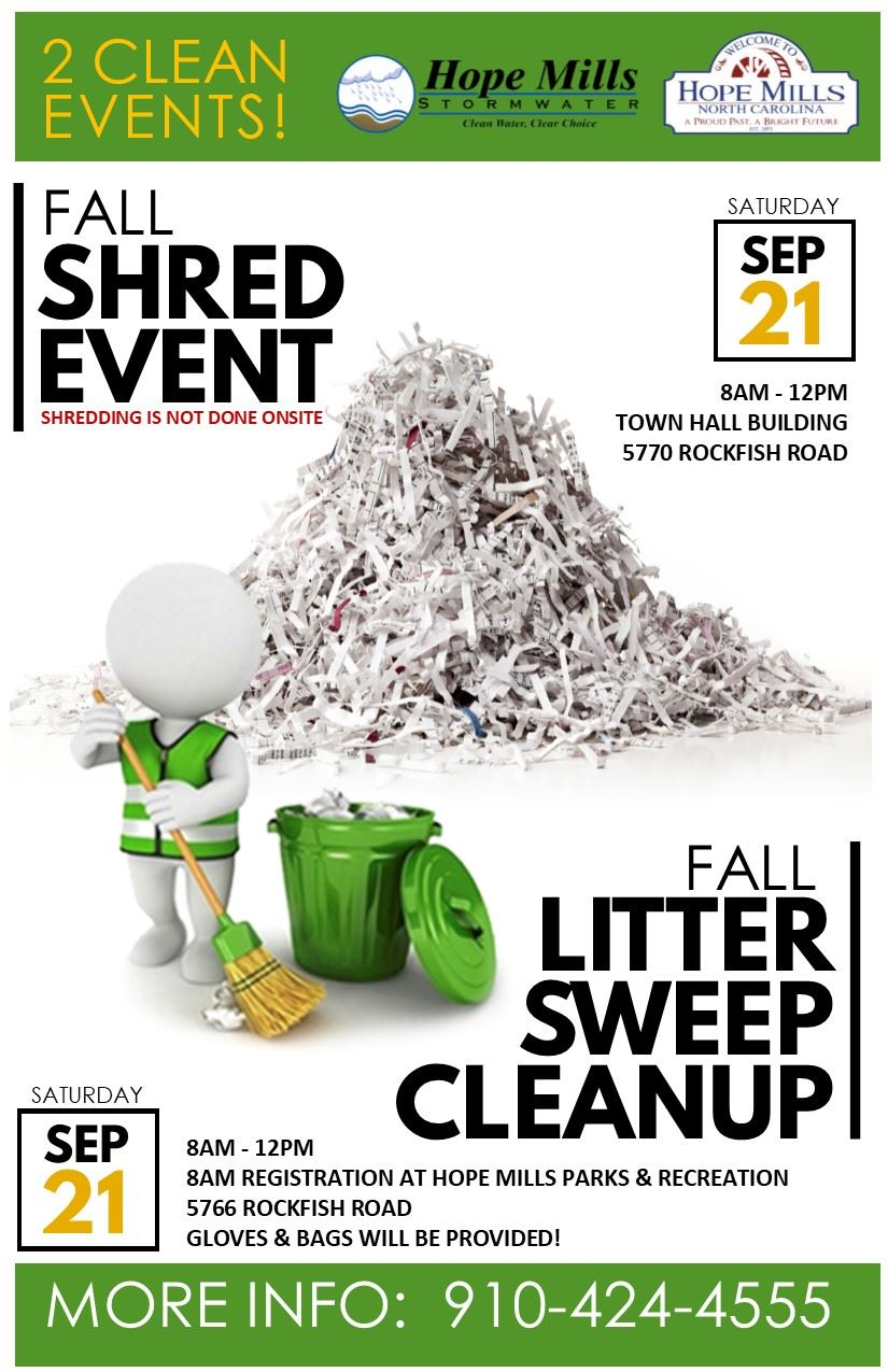 Shredding and Litter Sweep Event