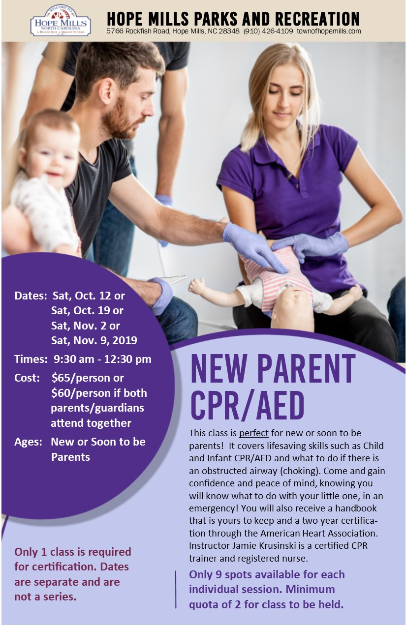 CPR New Parent for New or Soon to Be Parents