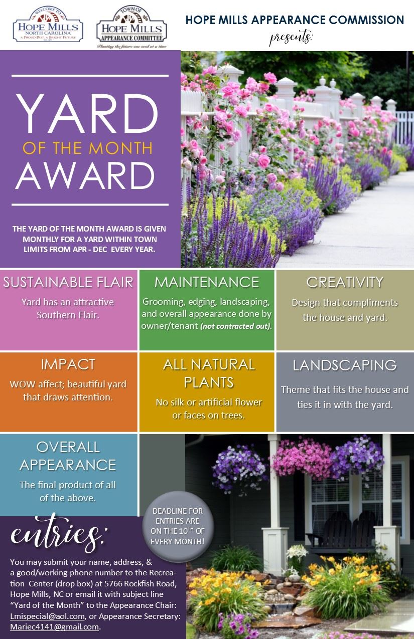 Yard of the Month Flyer July 2020