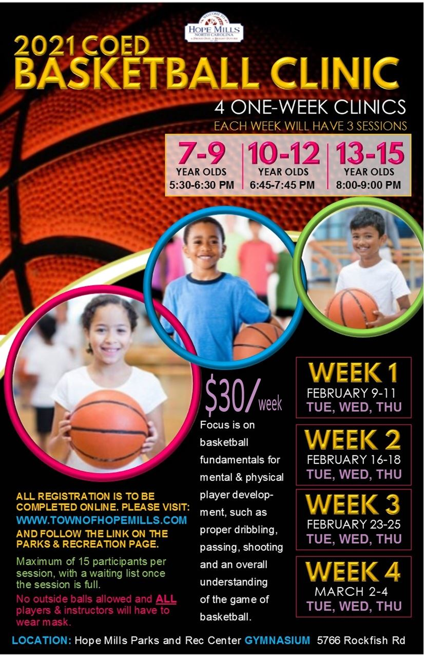 Coed Basketball Clinic Flyer 2021