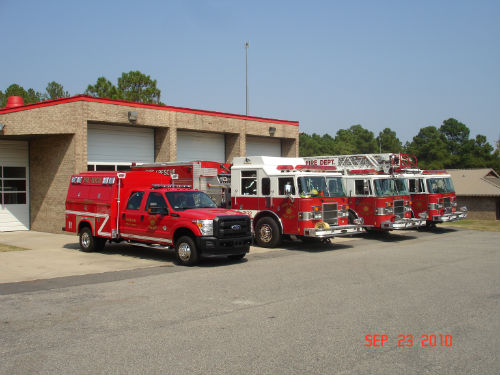 HMFD Front of Fire Station